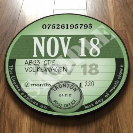 CLASSIC GREEN TAX DISC