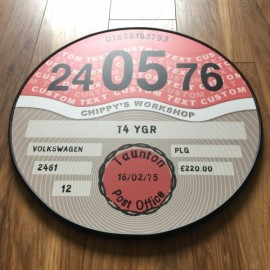 CONTEMPORARY RED TAX DISC
