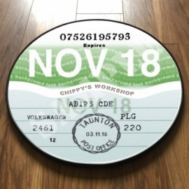 NINETIES GREEN TAX DISC