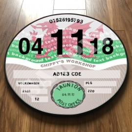 Welsh Flag TAX DISC
