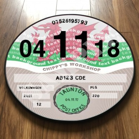 Welsh Flag TAX DISC