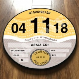 CONTEMPORARY YELLOW TAX DISC