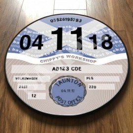 Scottish Flag TAX DISC