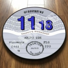EIGHTIES GREY TAX DISC