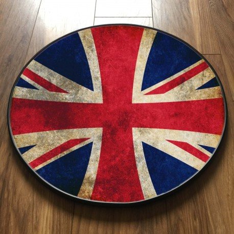 GRUNGE UNION JACK ROUND TABLE