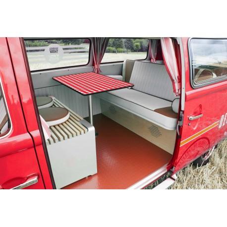 Red gingham rectangular table