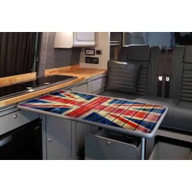 WOODEN UNION JACK RECTANGULAR TABLE