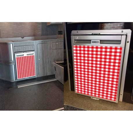 Red Gingham Fridge Front