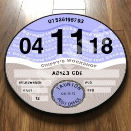 Contemporary Blue TAX DISC