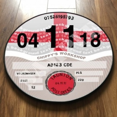 England Flag TAX DISC