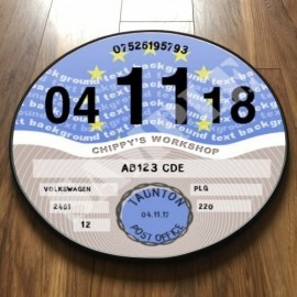 EUROPEAN FLAG TAX DISC