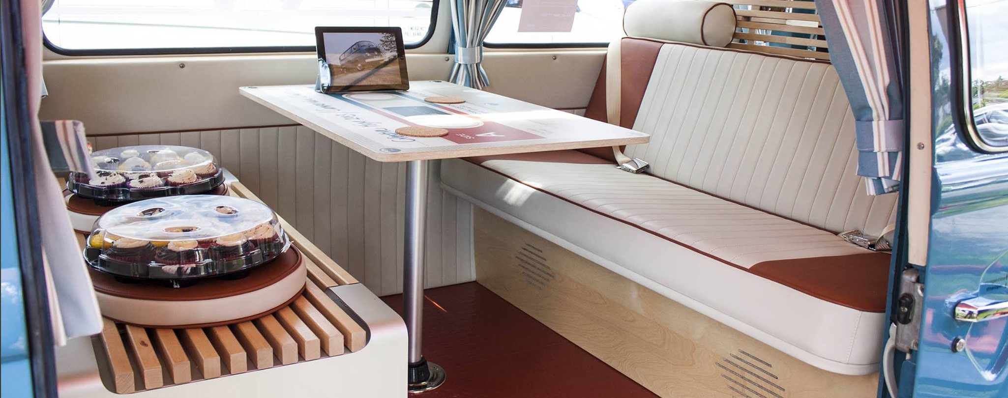 Simple yet stylish campervan table designs